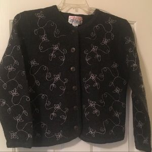 Tally Ho 100% wool cardigan
